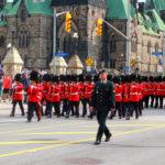 Parlament Hill Ottawa troca de guarda